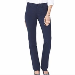 NYDJ Marilyn straight ponte pants midnight navy 0